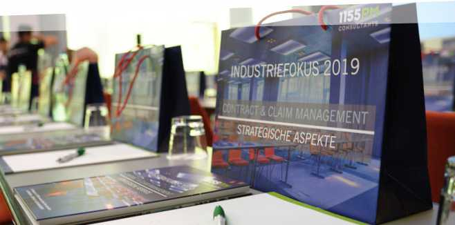 "Tagungsbericht zur Fachtagung ""INDUSTRIEFOKUS 2019: Contract & Claim Management. Strategische Aspekte."""